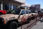 Cars displayed outside during SEMA 2012