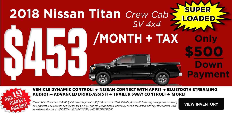 2017 Titan Crew Cab 4X4